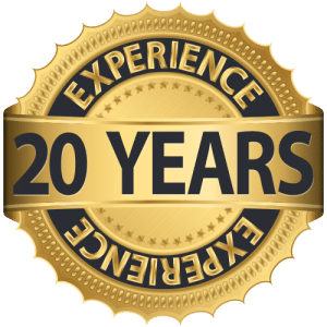 20 Years Experience Logo, SEO for Estate Attorneys, Web Design for Estate Attorneys, www.estateplannersmarketing.com